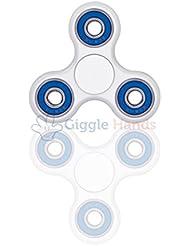 Fidget Spinner Enfant ou Adulte - Roulement en Céramique Si3N4 Haute Vitesse - Tourne 1 Minute ou plus - Jeu Sensoriel Tri-Spinner Fidget Toy