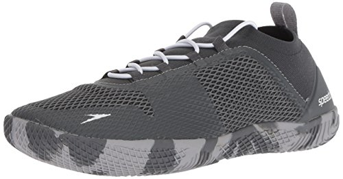 Speedo Herren AQ Water Shoes Fathom Aqua Fitness Wassersportschuh, dunkelgrau (Dark Heather Grey) 45 EU M