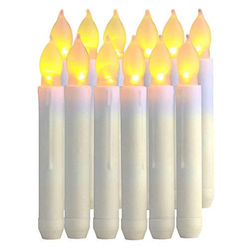 12 Velas LED sin Llama, Funcionan con Pilas, Velas Falsas eléctricas, Velas...
