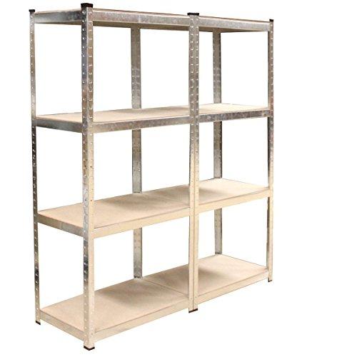 Preisvergleich Produktbild Steckregal 160x160x40 cm + kostenloser Versand / 640 kg Lagerregal Werkstattregal Schwerlast-Regal