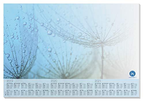 Sigel HO450 Schreibunterlage aus Recycling-Papier mit 3-Jahres-Kalender 2019 - 2021, ca. DIN A2, 30 Blatt - weitere Designs (Kalender Recycling-papier)