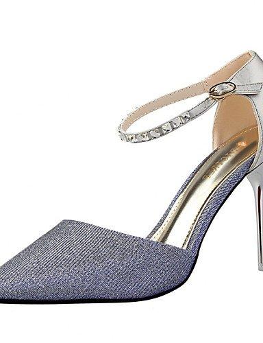 WSS 2016 Chaussures Femme-Habillé-Noir / Rose / Rouge / Argent / Gris / Or-Talon Aiguille-Talons / Bout Pointu / Bout Fermé-Talons-Similicuir gray-us6.5-7 / eu37 / uk4.5-5 / cn37