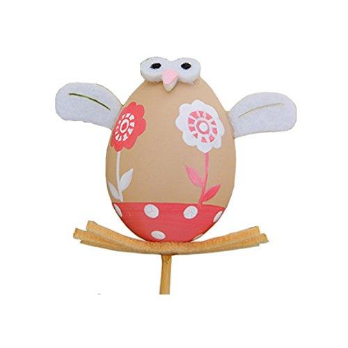 Ostereier 1PC Bemalte Eier Ostern Kunsthandwerk Dekoration Plastik Osterdeko Spielzeug für Kinder