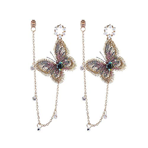 tterling baumeln modische Frauen Temperament Ohrring-Frauen Ohrringe Lange Großhandel Ohrringe Zubehör (multicolor) ()