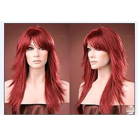 OOFAY JF ® nuovi arrivi lunghi capelli sintetici rossi alice rivolti parrucca dei capelli di trasporto libero