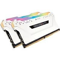 Corsair Vengeance RGB PRO 16 GB (2 x 8 GB) DDR4 3200 MHz C16 XMP 2.0 Enthusiast RGB LED Illuminated Memory Kit - White