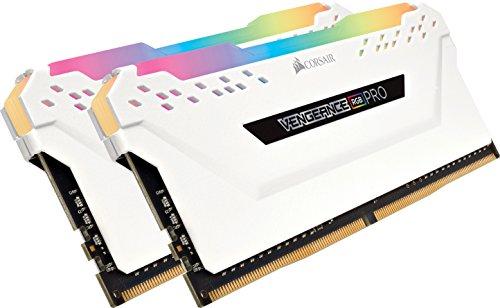 Corsair Vengeance RGB PRO 16GB (2x8GB) DDR4 3200MHz C16 XMP 2.0 Enthusiast RGB LED-Beleuchtung Speicherkit - weiß
