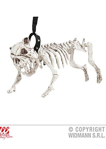 Deluxe Halloween Prop Skelett Hund auf Blei