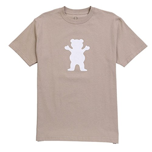 Grizzly Griptape Og Bear logo t-shirt Sand, Brown, (Zoo York Skateboard T-shirt)