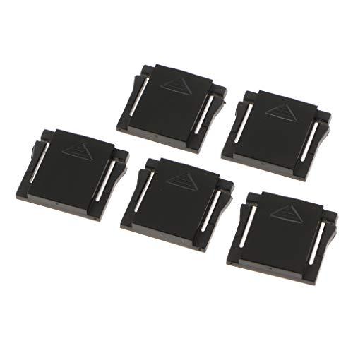 perfk 5 Stück Blitzschuhabdeckung Blitzschuh Deckel Schutzkappe für DSLR Kameras - Schwarz Hot Shoe Cover Cap