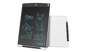 NEWYES Schreibtafel LCD Writing Tablet, 12 Zoll, Papierlos für Schreiben Malen Notizen (Weiß)