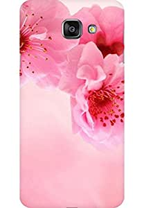 AMEZ designer printed 3d premium high quality back case cover for Samsung Galaxy A7 2016 (pink flower)