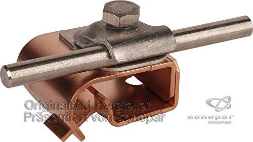 Dehn 339167–Dreistockklemme Rauchgasthermometer Dach/Illo 16–22/6–10mm Cu/St/tZn