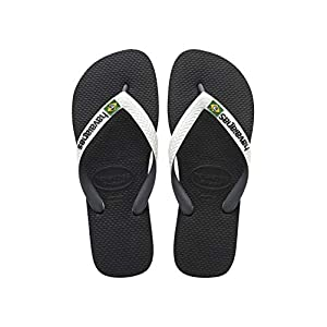 Havaianas Brasil Mix Infradito Unisex Adulto, Multicolore (Black/White 0133) 41/42 EU
