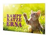 GRAZDesign Personalisierte Türschilder Familie & Tiere - Namensschild Haustür Katze Name - Haustürschild Schild mit Katzennamen / 21x15cm / 200304_21x15_TS_AM