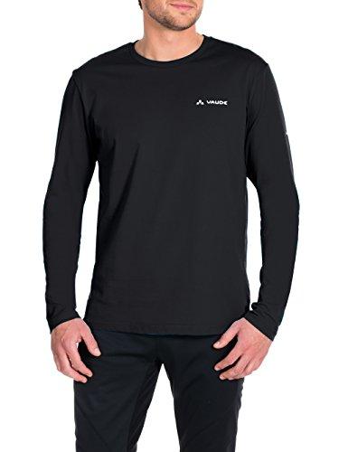 VAUDE Herren T-Shirt Brand Long Sleeve, schwarz(Black), L, 06454
