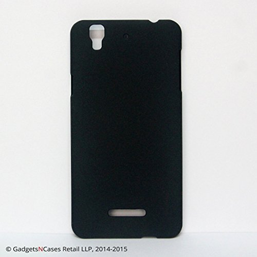 Pudini Original Quicksand Matte Finish Back Cover Case for Micromax Yu Yureka - Sand Black