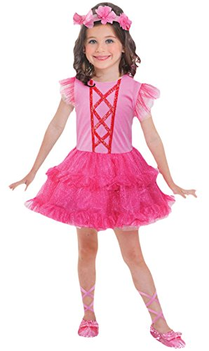 Halloweenia - Mädchen Ballerina Kostüm, Karneval, Fasching, Halloween, Pink, 98-116, 3-6 Jahre (Mädchen Aurora Ballerina Kostüme)