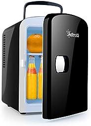 AstroAI Mini Frigo de Chambre, Mini Réfrigérateur Voiture Portatif 4L 12V/220V, Glacière Électrique Chaud/Froi