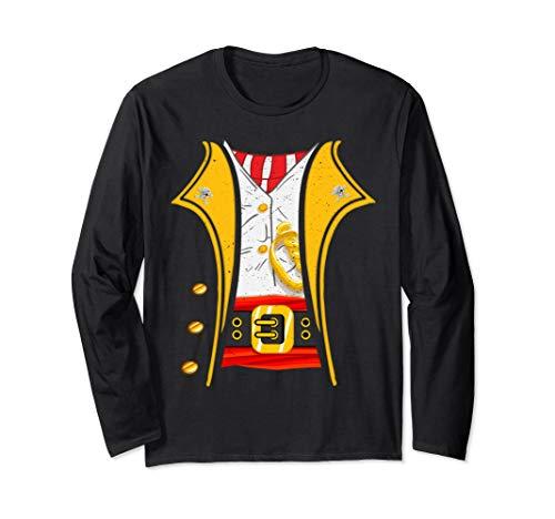 Black Coat Pirate Kostüm - King of Pirates Captain Funny DIY Halloween Costume Langarmshirt