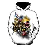 NINGSANJIN Herren Pullover Kapuzenpullover Hoodie Kapuzenpullover Pullover, Longsleeve Sweater Sweatshirt Pulli (Weiß,3XL)