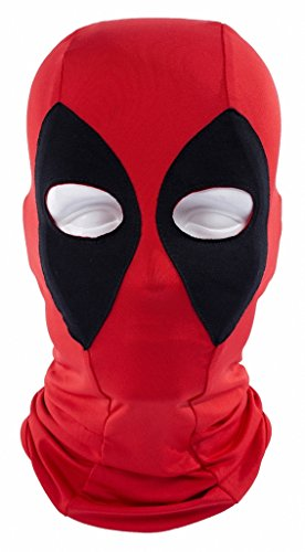 tobe-u Deadpool Full Face Kostüm für Erwachsene Overhead Maske für Halloween Rot/Schwarz Einheitsgröße rot - Red (Farben Kostüm Deadpool)