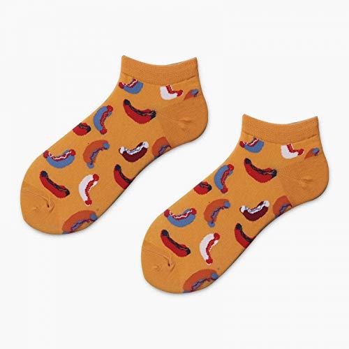 JARST Avocado Sushi Omelette Burger Apfel Pflanze Obst Lebensmittel Socken Kurz Lustig Sommer Socken Frauen Männer Unisex Happy Socks Weiblich