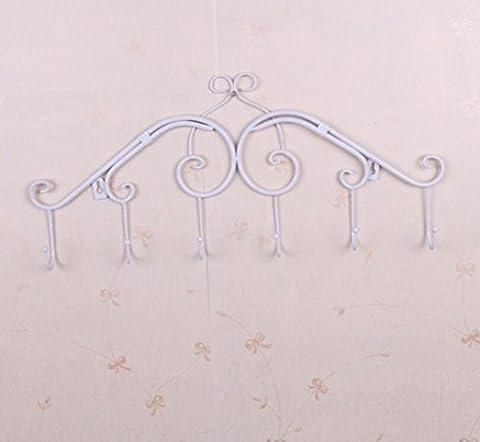 Lugii Cube Crochet Vêtements/serviette Cintre Rack de stockage Décoration murale en métal, blanc