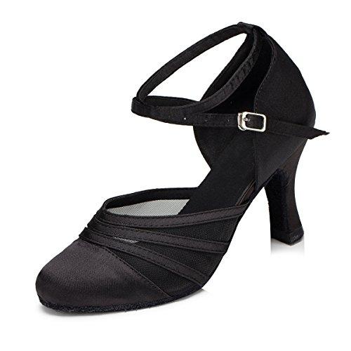 Minitoo Damen Tanzschuhe, Schwarz - Schwarz - Größe: 37.5