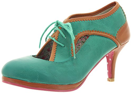 Banned, Scarpe col tacco donna Turchese (Turquoise-Tan)