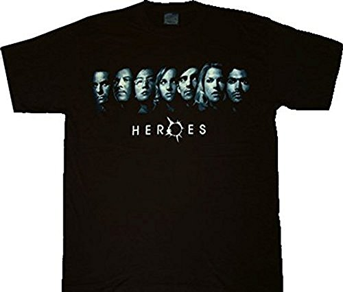 heroes-are-you-on-the-list-line-up-faces-black-t-shirt-tee-l
