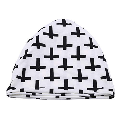 Ellepigy Personality Cross Winter Mütze Baumwolle Strickmütze Mütze Ski Snowboard Hüte Bobble für Frauen, Weiß - Snowboard Hut, Mütze,