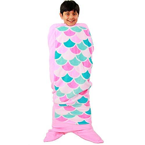 A2Z 4 Kids® Kinder Decke Schicke Kleider - Blanket. Mermaid Pink One Size
