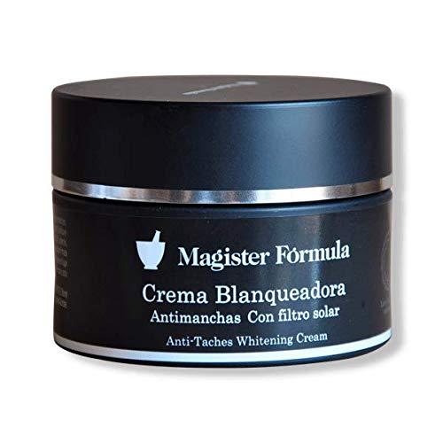 Crema Antimanchas Despigmentante 95 ml | Magister Formula | Crema blanqueadora facial | Todas las pieles | Día y noche | Elimina y reduce manchas de la piel y cara | Efecto antiedad y antiarrugas