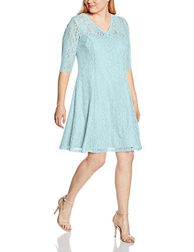 Zizzi - Dress, Elbow Length Sleeves, Vestito Donna Blau (Canal Blue 1516)