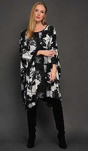 ly schwarz Blusenkleider Damen ()