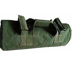 Idea Regalo - ChengYi Allenamento di pesanti sacchi di sabbia per Fitness, Fitness funzionale, esercizio di Cross-training e Crossfit con masse regolabili CYTN01 (verde militare)