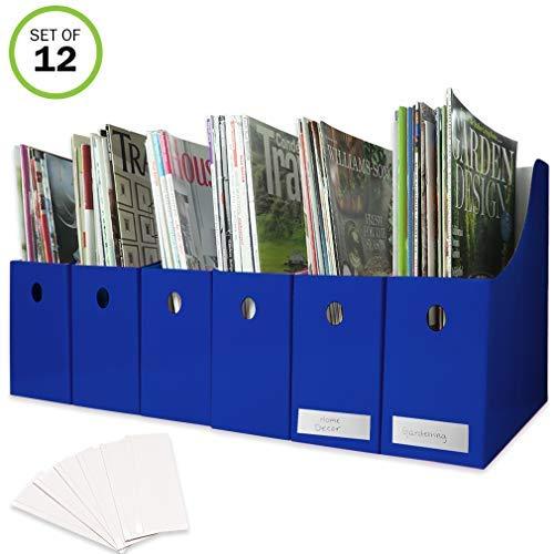 evelots Set von 12Stehsammler Holder Organizer Boxen W/Etiketten, schwarz oder weiß 9.75