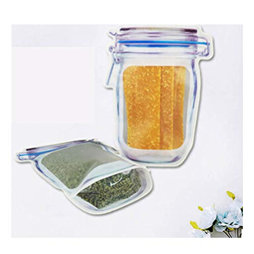 (Vvciic 10 Stück Mason Jar Lebensmittel-Modell zum Einsparen von Taschen Set Snack Frutta Frutta Frutta Frutta Frutta Food Storage)