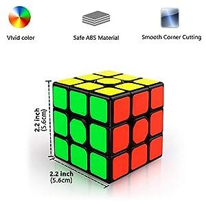 LOVEXIU Cubo Magico 3x3x3, Cubo 3×3 2 PCS, Speed Cubo 3×3, Speed Cube Profesional de Rápido Suave Durable y Fácil Giro…