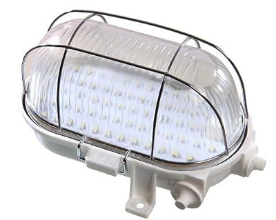 as - Schwabe LED Ovalleuchte 4 W, IP 44 geeignet für den Aussenbereich, Garten, Keller, Garage, weiß, 56801 von as - Schwabe bei Lampenhans.de