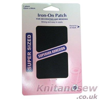 hemline-h690l-blk-patch-reinforce-black-iron-on-repair-fabric-12x44cm