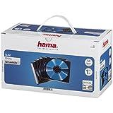 """Hama - 51269 - Lot de 50 boites """"SLIM"""" vides transparentes avec fond noir pour CD simples"""