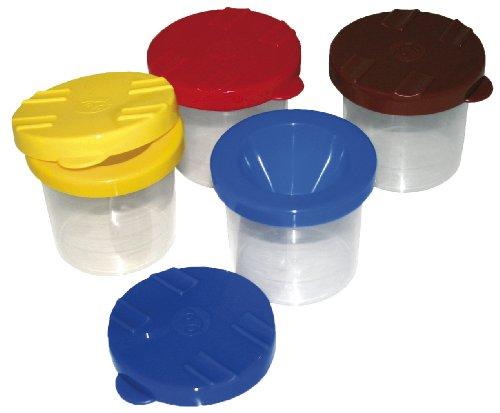Pinselbecher mit Auslaufschutz, 1 Stück, Durchmesser 7,5cm, Höhe 9cm Wasser Becher
