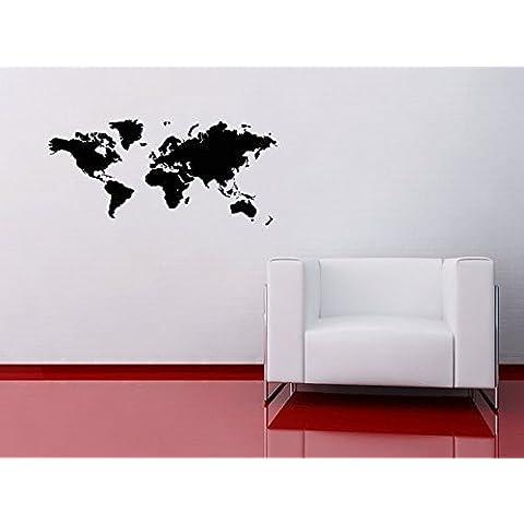 Mapa del Mundo Vinilo Adhesivo de Pared Atlas Office Home Países