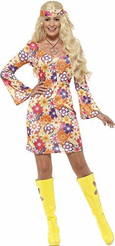 80er Kostüme 70 Jahre (Flower Hippie Kostüm für Damen Gr.)
