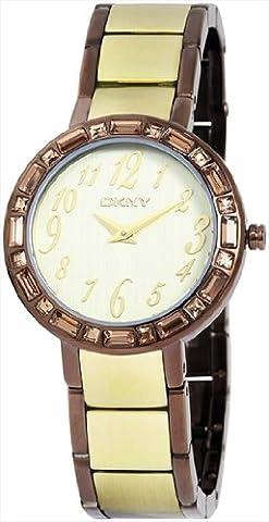 DKNY Damen-Armbanduhr Analog Quarz Leder NY4348