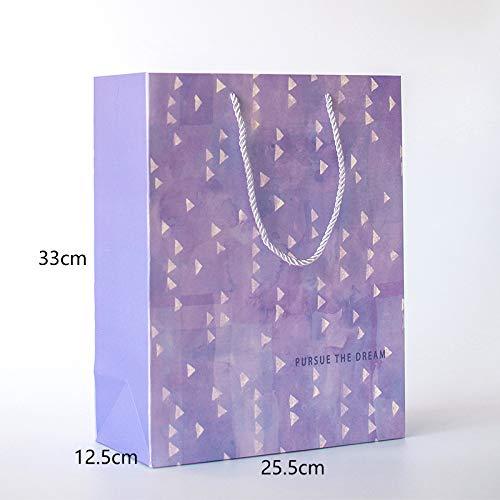 LIUQIAN Aquarell kleine frische Geschenk Tasche tragbare Tasche Geschenk Papiertüte Maske Aufbewahrungstasche Geburtstag Segen Urlaub Liebhaber Papiertüte (Papier-tasche-maske)