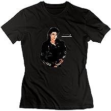 Grau inoffizieller verschiedenen Michael Jackson T-Shirt Frauen Personalisierte, damen, schwarz