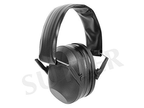 SUTTER Gehörschutz für Jäger und Sportschützen, Schwarz * Kapselgehörschutz Ohrenschützer * Ideal Zum Schießen und Jagen